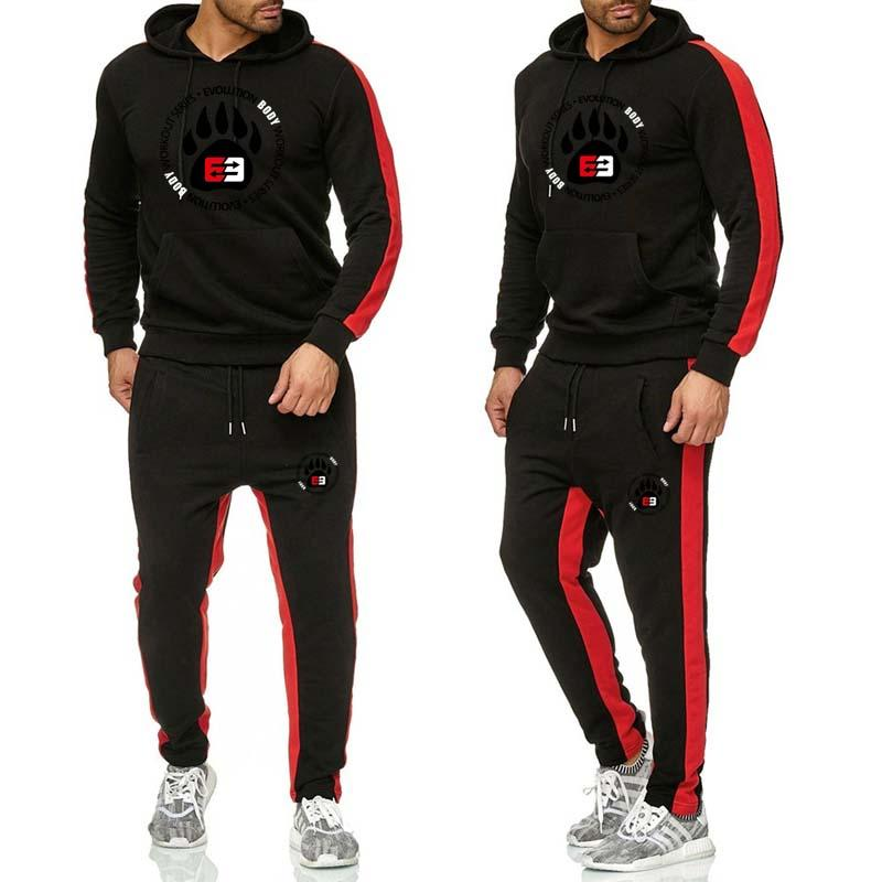 2019 New Sports Suit Men's Suit Men's Hoodie Suit Men's Gym Sports Suit Jogging Suit Men's Sports Suit Suit