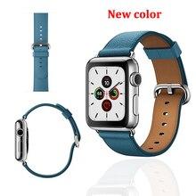 цена на Leather strap for Apple watch band 4 3 44mm 42mm watchband iwatch bands 38mm 40mm Sport Bracelet correa apple watch 5/4/3/2/1