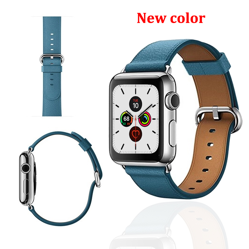 Leather strap for <font><b>Apple</b></font> <font><b>watch</b></font> band 4 <font><b>3</b></font> 44mm <font><b>42mm</b></font> watchband iwatch bands 38mm 40mm Sport Bracelet <font><b>correa</b></font> <font><b>apple</b></font> <font><b>watch</b></font> 5/4/<font><b>3</b></font>/2/1 image