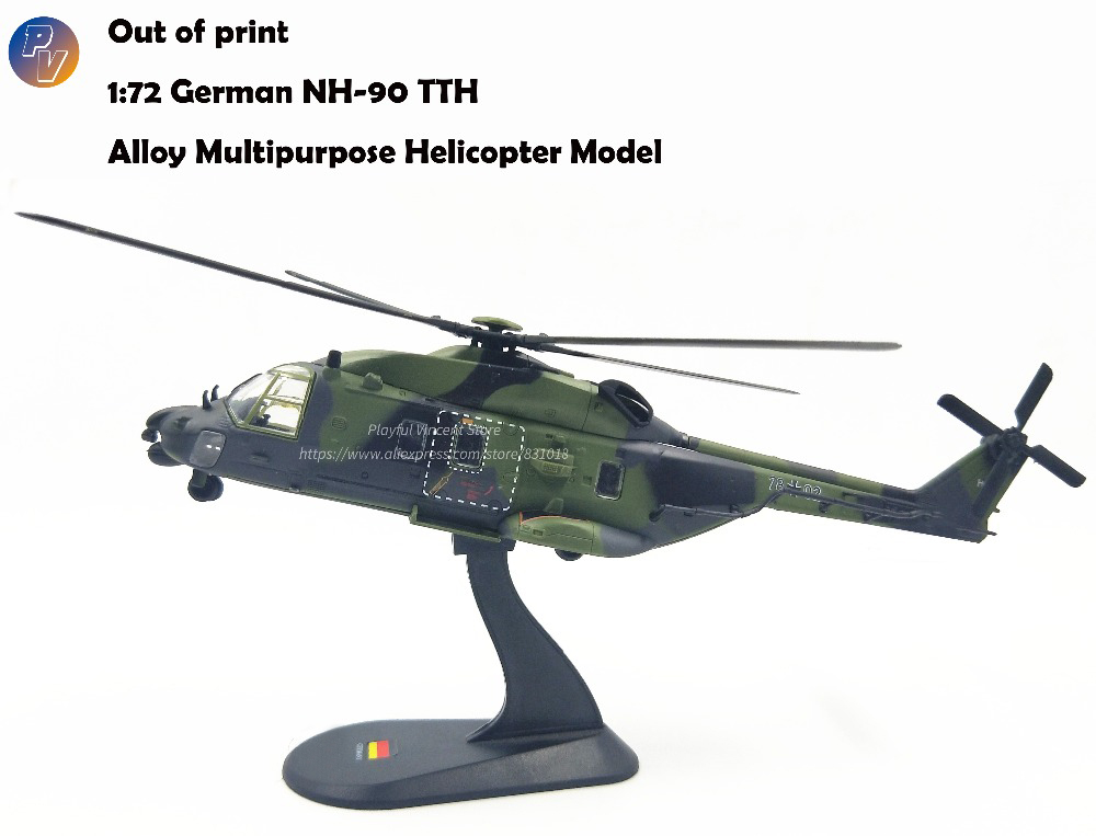 rare Special Offer 1 72 German NH 90 TTH Multipurpose Helicopter Model Out of print Alloy