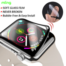 Screen Protector For Apple Watch SE 6 44mm (Not Tempered Glass) Full 3D Coverage Waterproof Glass Film for iWatch 4 5 40MM 42MM cheap mling CN(Origin) Easy to Install Nano-coated Tempered Glass Film iwatch screen protector