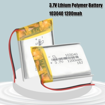 3.7V Lithium Ion Polymer Li Polymer 103040 1200mah Battery For LED Flashlight Remote Controller Selfie Stick 1