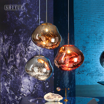 Nordic LED glass Chandelier  Lava Ball Pendant Lamps Hanging Bedroom Kitchen Modern Personality Light Melt