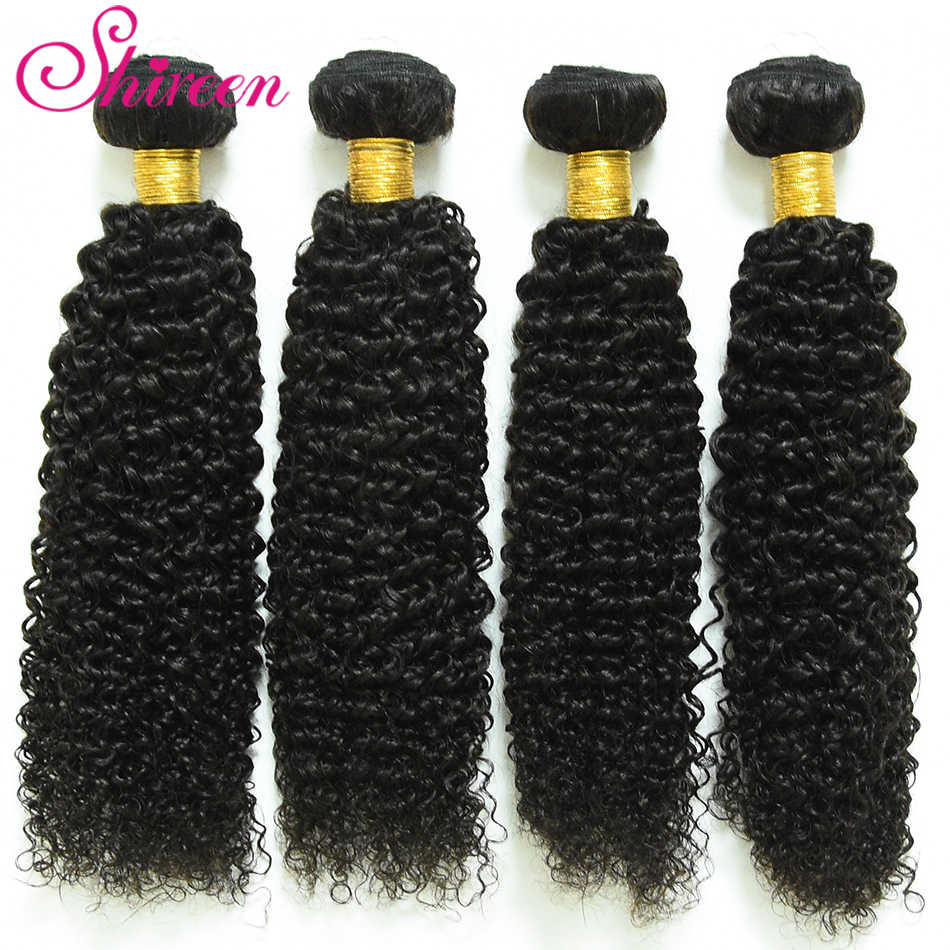 Mongolian Kinky Curly Hair 3pcs 100% Human Hair Extensions Mongolian Remy Hair Natural Color Shireen Hair Product Tissage Cheveu
