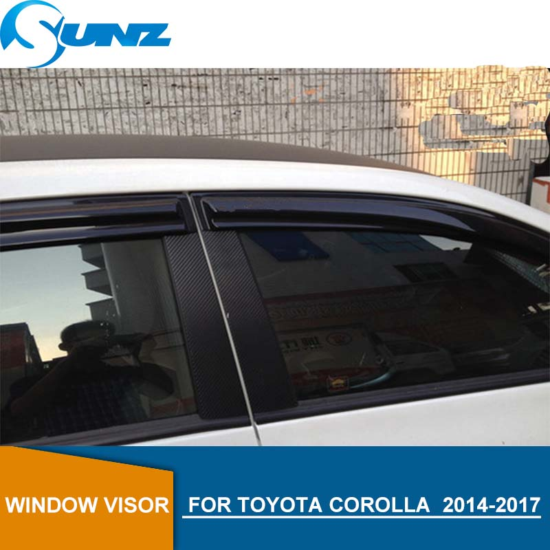 Car door visor For Toyota corolla 2014 2015 2016 2017 2018 Side window deflectors toyota  2014-2018 accessories SUNZ