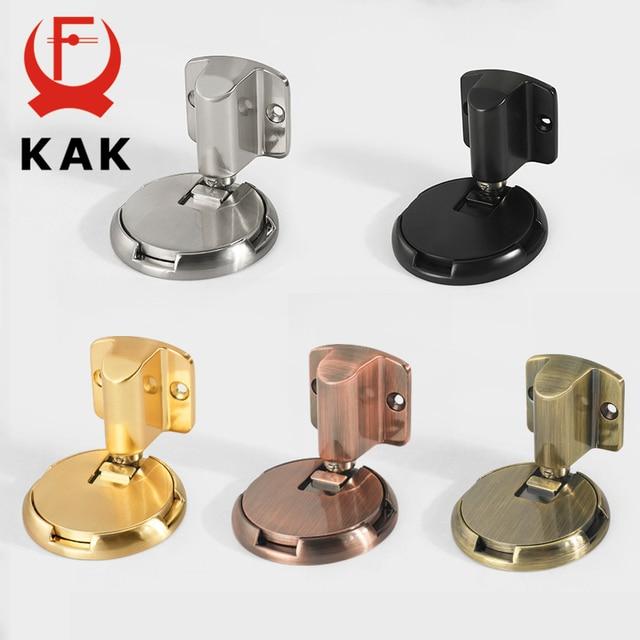 KAK Mechanical  Door Stop Nail Free Door Stopper Door Holders Catch Floor Stop Door Nail Free Doorstop Furniture Door Hardware