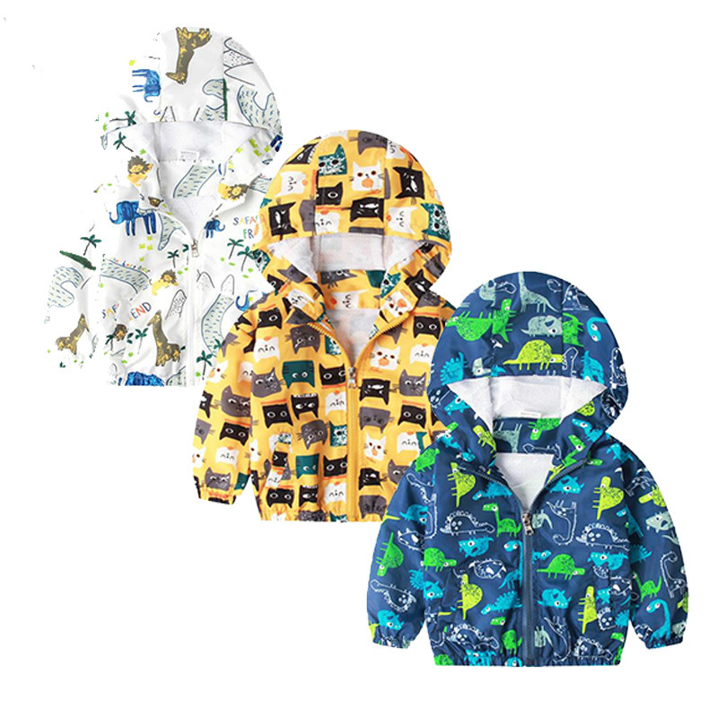 Baby boy jacket spring dinosaur jacket casual hooded sport outerwear toddler girls coats and jackets windbreaker kids coats in Jackets Coats from Mother Kids