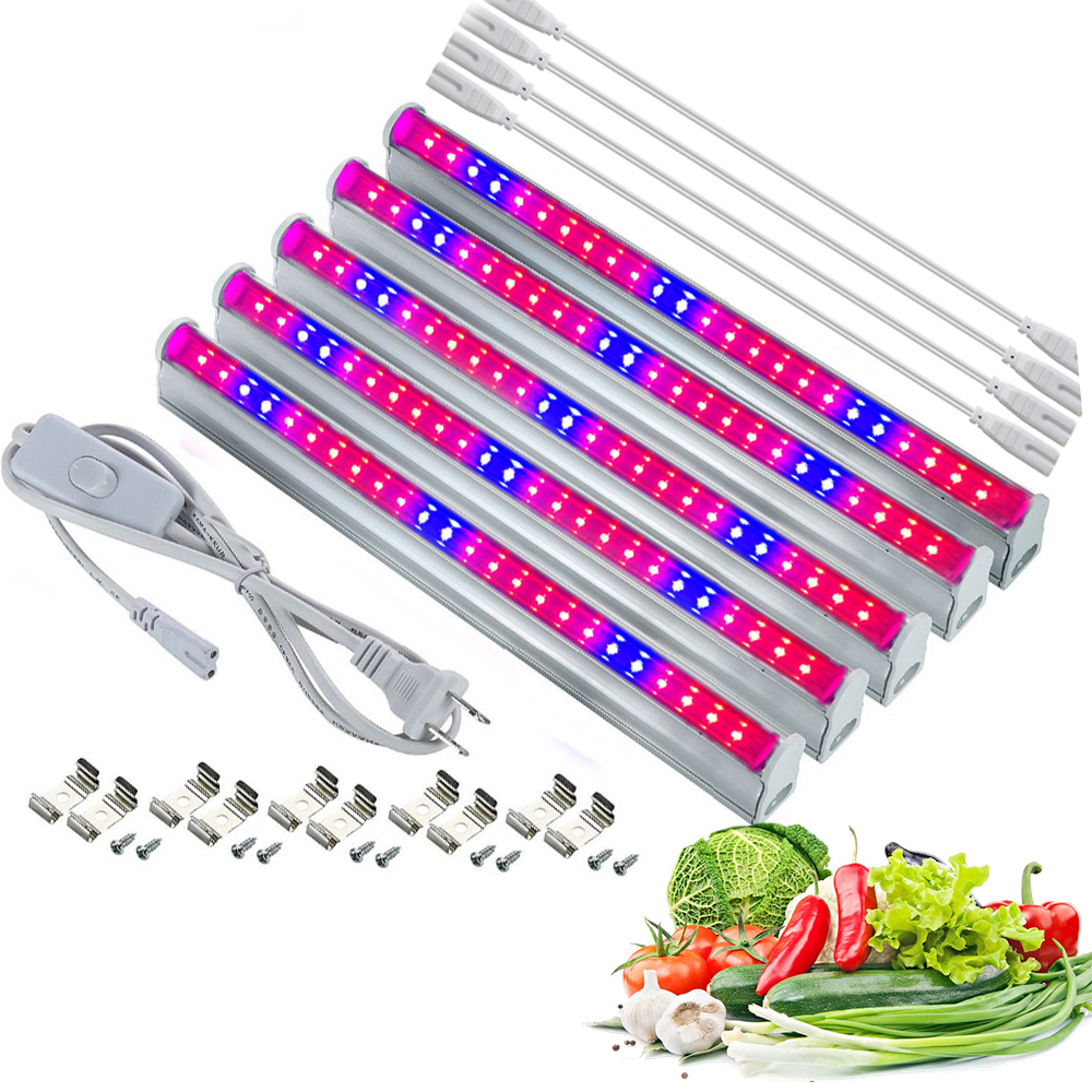 LED Grow Light T5 Bulb Tube AC110V 220V Lampara 2835smd Lamp For Flower Plant Phytolamp Full Spectrum Indoor Seedling Grow Box