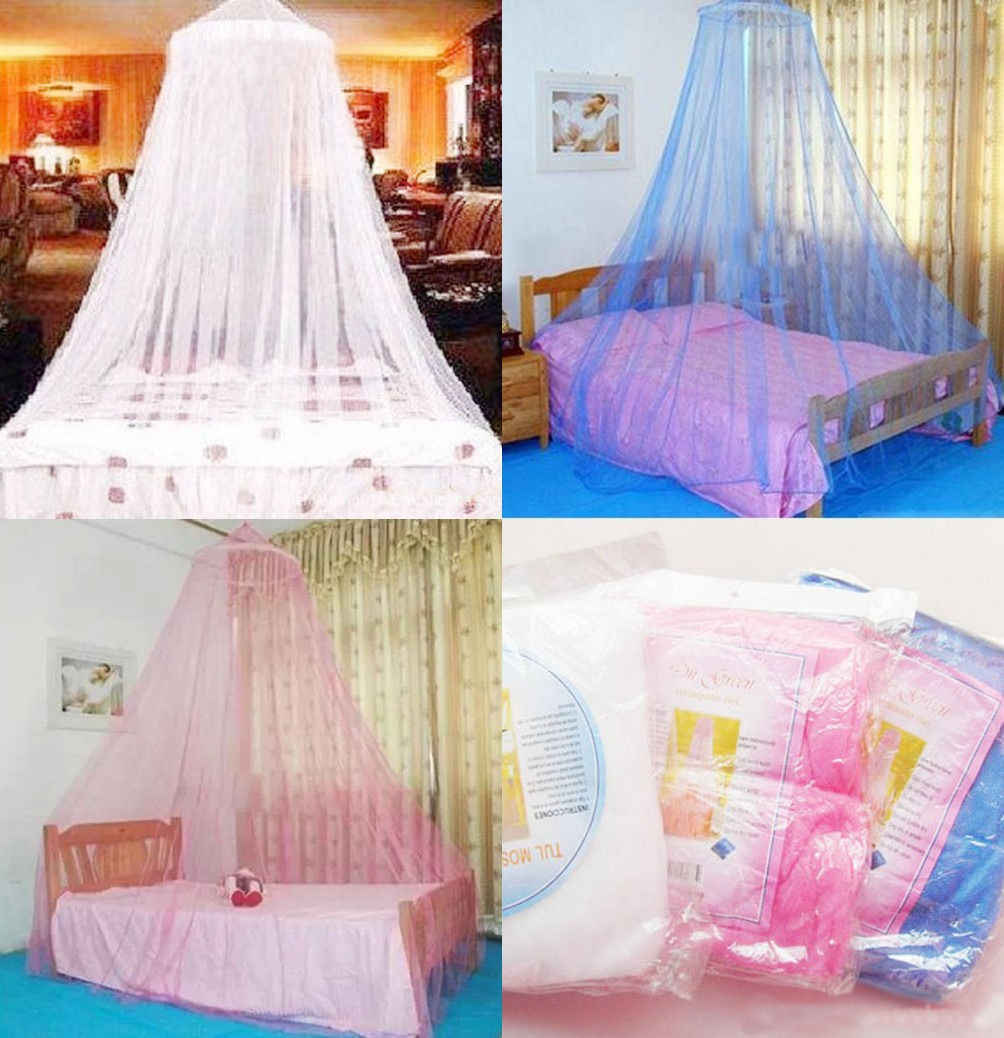 Mosquito Netting Mesh Bedding Net Children Room Elegant Lace Bed Mosquito Netting Mesh Canopy Princess Round Dome Bedding Net