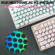 RGB Steampunk Gaming Mechanical Keyboard Metal Pan