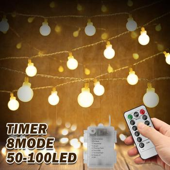 Fairy Garland LED Ball String Lights Waterproof 5M 10M For Christmas Wedding Home Party Outdoor Decoration Light Battery Powered 5m 20led 10m 35led big ball string light indoor outdoor decorative fairy lighting for christmas trees patio party