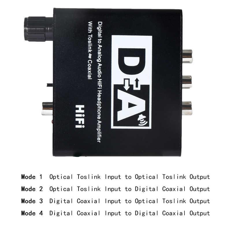 24bit 192 dacアンプアナログオーディオコンバータ 3.5 ミリメートルヘッドフォンアンプ同軸rca出力ミニハイファイdac