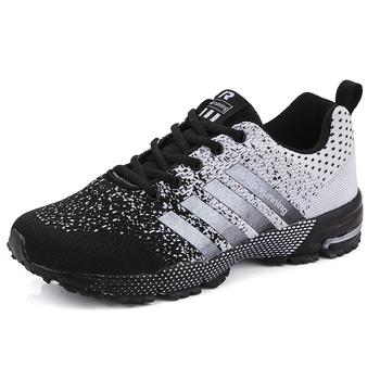 Męskie buty do biegania oddychające terenowe buty sportowe lekkie buty sportowe dla kobiet para wygodne trening sportowy obuwie tanie i dobre opinie WIENJEE Unisex CN (pochodzenie) LIFESTYLE Stabilność Zaawansowane Dla dorosłych Wysokość zwiększenie Mesh (air mesh)
