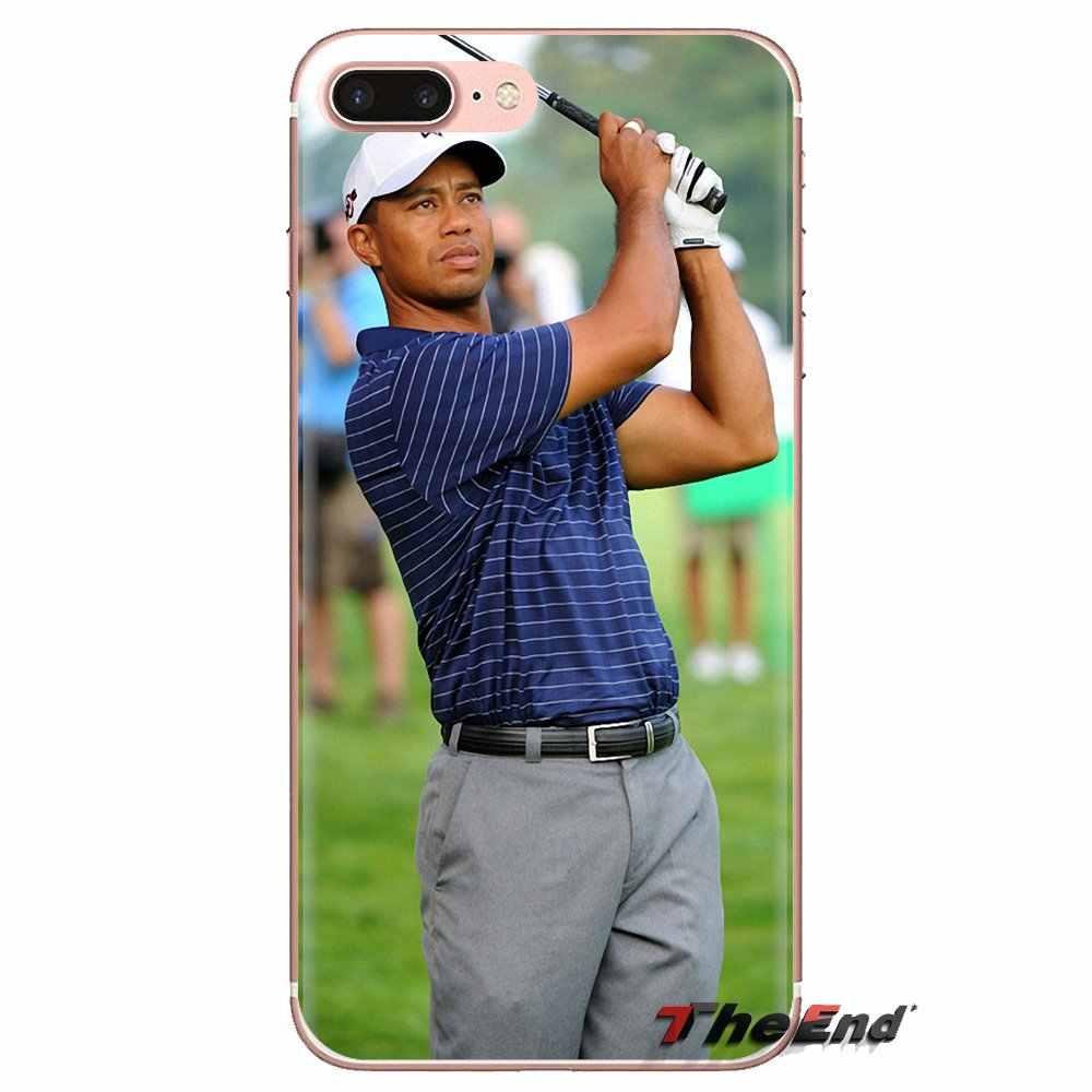 Eldrick Tiger Woods Golf Star para Xiaomi mi 4 mi 5 mi 5S mi 6 mi A1 A2 5X6X8 9 Lite SE Pro mi Max mi x 2 3 2S de silicona caso de la vivienda de la