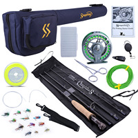 Sougayilang 2.8m Portable Fly Fishing Rod and 5/6 Fly Reel Combo Fishing Pole Fish Line Lure Flies Line Full Accessories Set