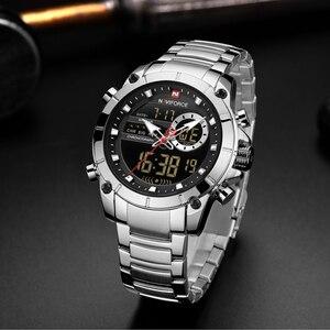 Image 2 - Fashion NAVIFORCE Men Luxury Watch New Design Waterproof Watch For Men Stainless Steel Wristwatch Reloj Hombre Quartz Male Clock