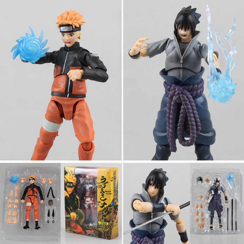Good Craft PVC Anime Movable Naruto Action Figure Sasuke Kakashi Assemble Molding Joints Replaceable Model Toy Gifts