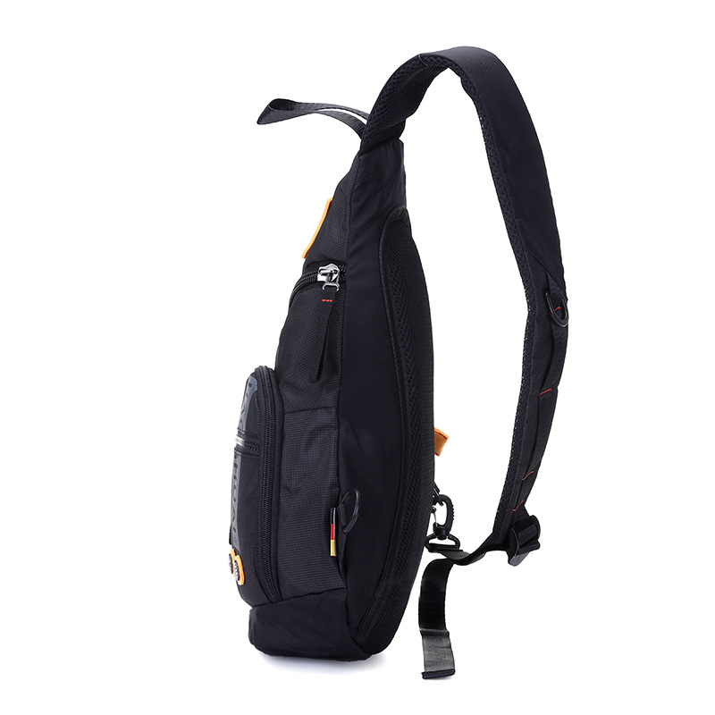 Men's Fashion Chest Pack Shoulder Small Backpack Shoulder Casual Front Backpack Sports Nylon Cloth Water Droplet Bag Triangle Ba