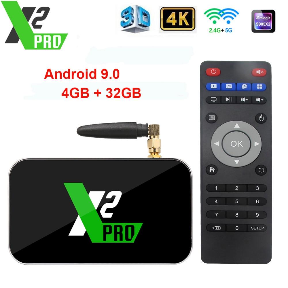 X2 Cube 2GB Android 9.0 Smart TV Box 4K HD Media Player Amlogic S905X2 X2 Pro 4GB DDR4 32GB Set Top Box Ugoos TV BOX VS AM6/3