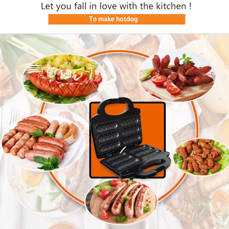 220V Electric Waffle Maker For Sausage To Make Crispy French Fries Hot Dog And Lolly Stick 1