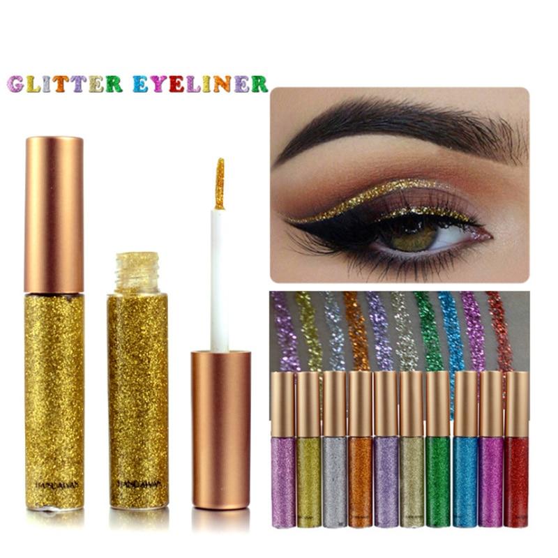 12 Colors Diamond Glitter Liquid Eyeliner Durable Waterproof Makeup Shimmer And Shine Eye Pencil Makeup Beauty Tools