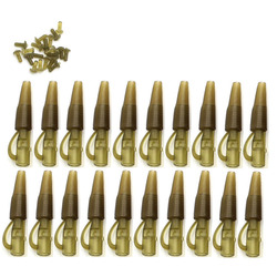 20SET Lead Clips & Tail rubbers Cone Carp Fishing Tackle Kit Accessories for Carp Fishing Rig Equipment Tackle
