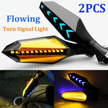 1 pair New Style Amber Motorcycle Turn Signal Lights With Blue Flowing Indicator 17 LED Bulb Fits for Universal Motorcycle new style motorcycle graphics