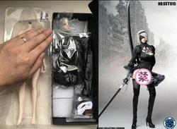 Super Duck SET015 1/6 Nil mechaniczna Era kobieta Robot Ulha AUTOMATA 2B zestaw ubrań dla 12 ''Phicen figurka Model malarski