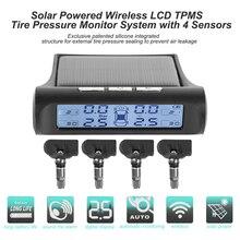 Беспроводная автомобильная система контроля давления в шинах VODOOL, система контроля давления в шинах, с 4 датчиками, на солнечной батарее, че...