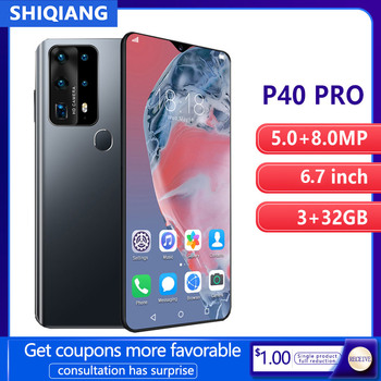 SOYES P40 Pro Mobile Phone Android Smart Unlock Face ID 6.7 inch 3GB RAM 32GB ROM 2 Sim Card Smartphones 4800mAh Cellphone - discount item  61% OFF Mobile Phones