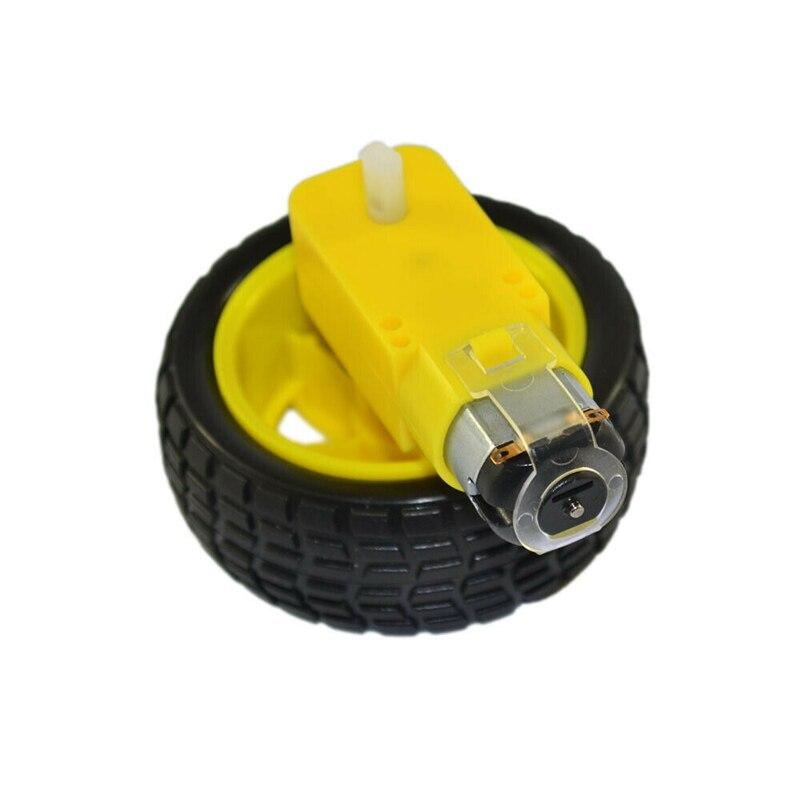 Best Deal¥Tire-Wheel-Kit Robot Anti-Interference Arduino Smart-Car for DIY Durable 3v-6v-Gear Motor⌐