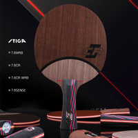 Original Stiga Carbo 7.6 Cr Table Tennis Racket Ping Pong Blade Carbo 7.6 Wrb Hollow handle Sense 7.6 (7 Wood +6 Carbon)