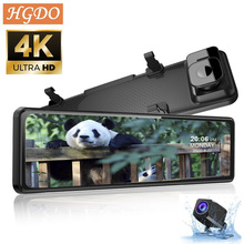 DVR Video-Recorder Dash-Cam Rear Camera Rearview-Mirror-Registrar Car 4K with 1080P Huawei