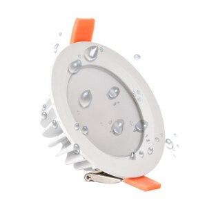 Image 1 - 품질 방수 IP65 LED 통 AC85 220V 7W 9W LED 램프 Recessed LED 스포트 라이트 욕실 주방에 대 한