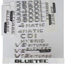 3d хромированные буквы для mercedes benz w221 w222 s320l s350l