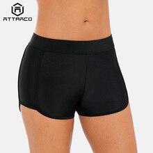 Attraco Swim Trunks Women Bikini Bottom Swimwear Briefs Ban Solid Color Side Bandage Swimming