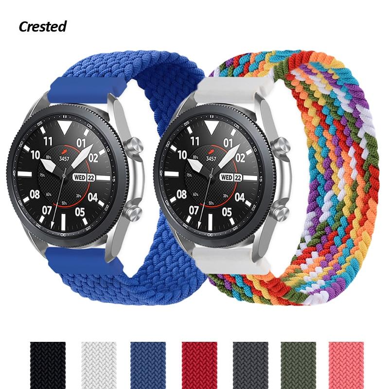 Ремешок Плетеный для Samsung Galaxy watch 3 46 мм 42 мм active 2 40 мм 44 мм Gear S3, браслет для Huawei GT2 Pro, 20 мм 22 мм