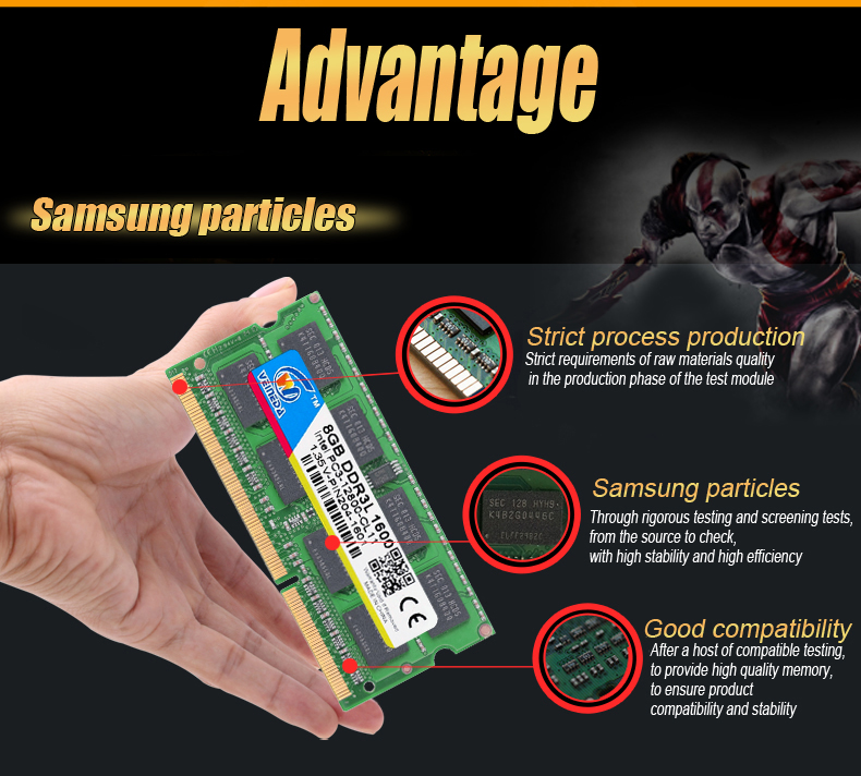 VEINEDA Laptop Ram DDR3L 8GB/4GB/2GB Compatible With All Motherboard 8