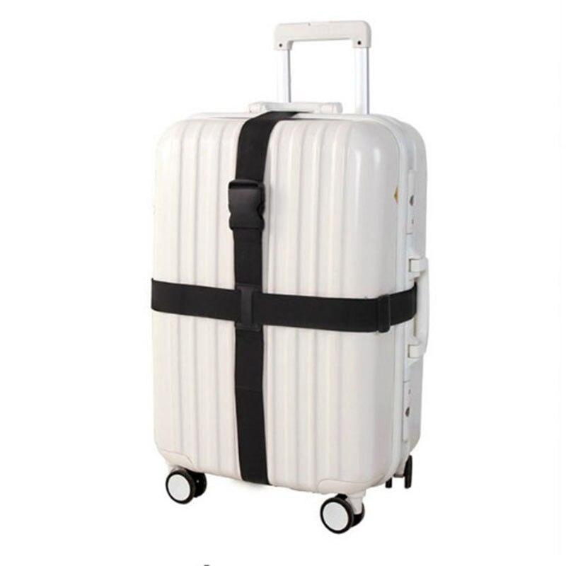 Mala ajustável alças transversais trole bagagem cinto de embalagem de bagagem de viagem cinta de viagem accessorie