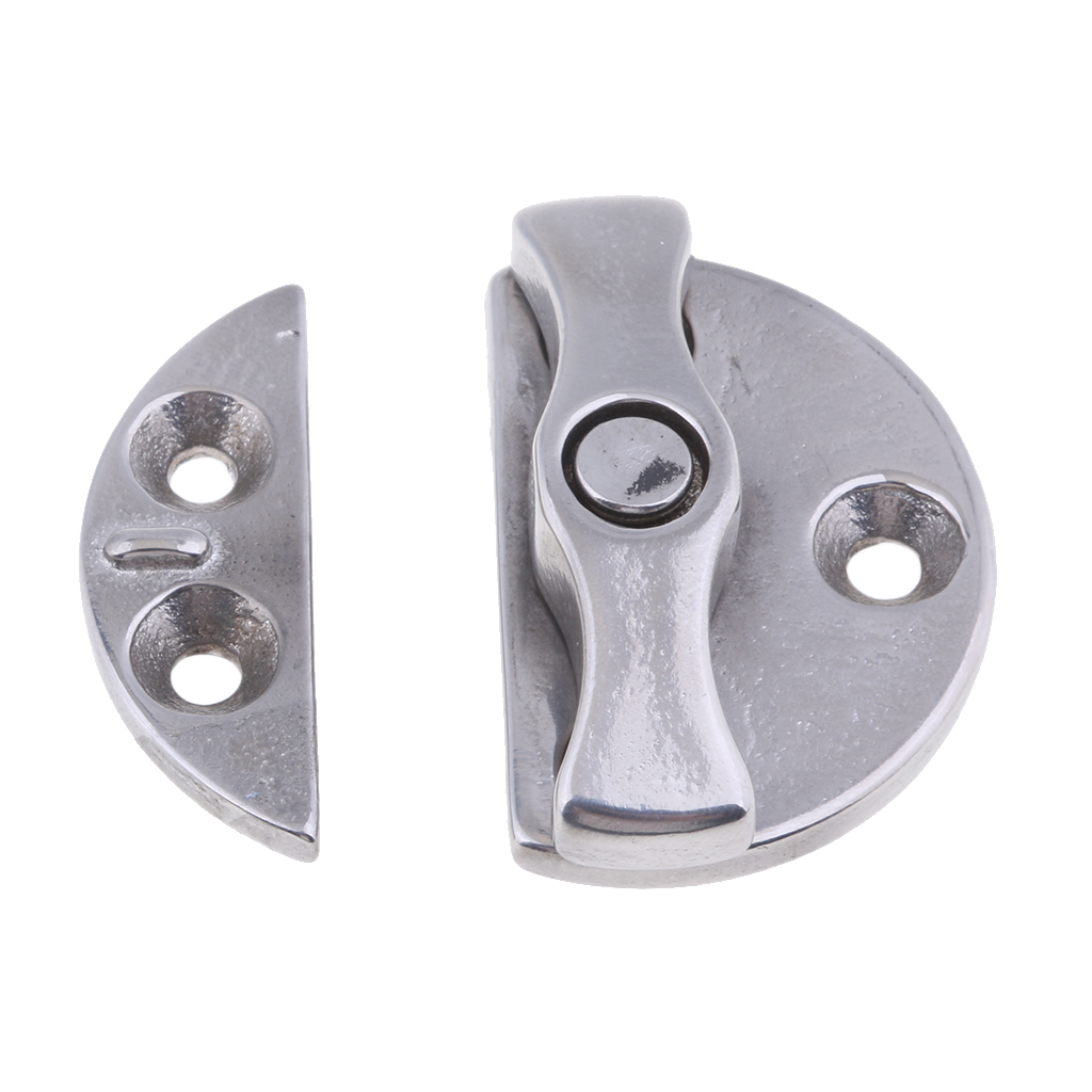 316 Stainless Steel <font><b>Boat</b></font> Door Latch Catch, Round Twist <font><b>Lock</b></font> Turning Locking <font><b>Hatch</b></font>, Marine Hardware, 43mm 1.7-inch image