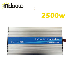 Off Grid Solar power Inverter converter 2500Watt/5000W peaking 12/24/48VDC to 110/220VAC Pure Sine Wave