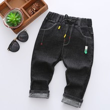 Children jeans trousers baby clothes boy casual pants fall 2018 new child trousers wet trousers hoo teenage children s clothing male child jeans spring and autumn pants child trousers straight casual child trousers