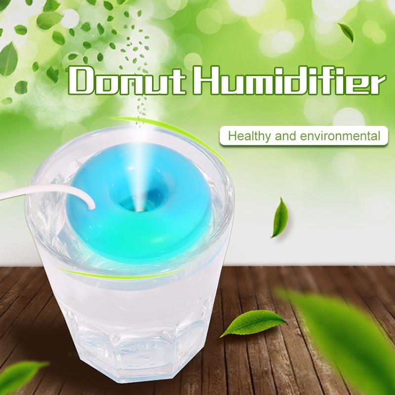 DEKAXI Mini Air Diffuser USB Air Humidifier Aroma Diffuser Steam Donuts Purifier Portable For Office Home