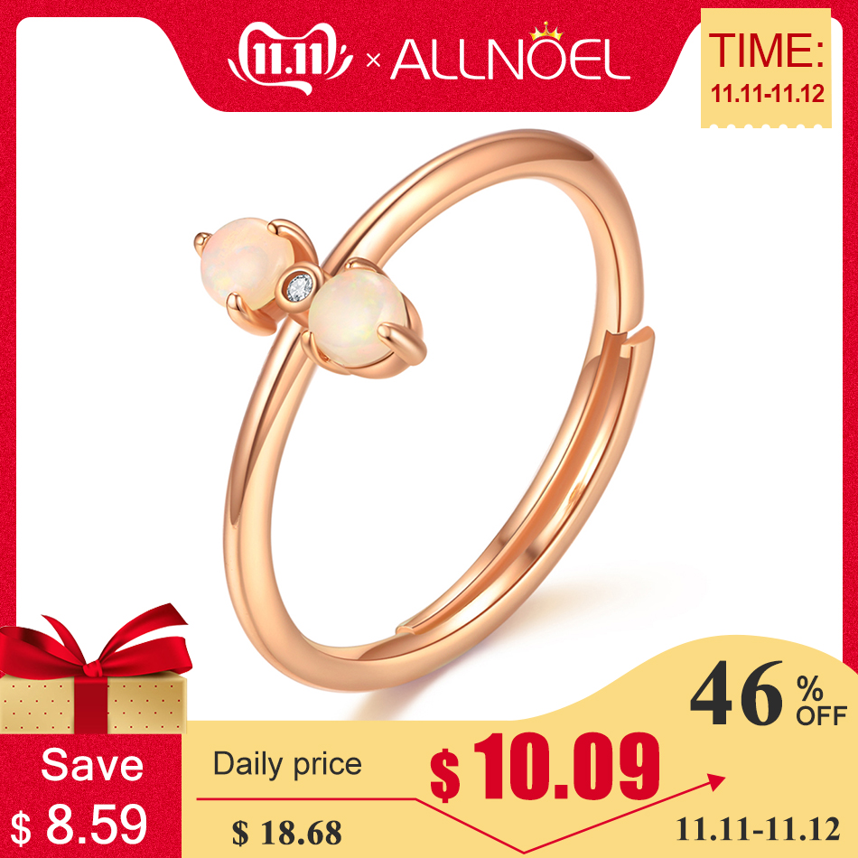 ALLNOEL Real 925 Sterling Silver Rings For Women 100% Natural Turquoise Pink Rose Quartz Gemstone Tanzanite Wedding Jewelry Gold
