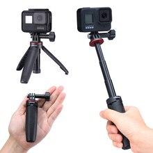 Tripé preto ulanzi MT 09 para câmera de ação, suporte de montagem e cabo manual para gopro hero 5/67/8 câmera esportiva para