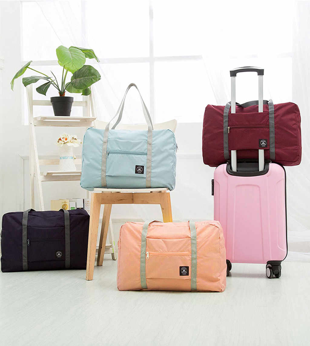 Nylon Waterproof Travel Bag Unisex Foldable Duffle Bag Organizers  Large Capacity Packing Travel Carry on Luggage Bags Overnight
