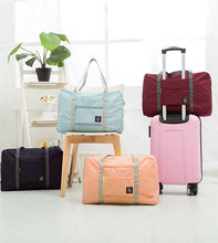 Nylon Waterproof Travel Bag Unisex Foldable Duffle Bag Organizers Large Capacity Packing Travel Carry on Luggage Bags Overnight(China)