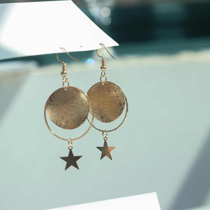 Women Pearl Drop Metal Earrings Big Hollow Circle Design Dangle Earring For Women Statement Ear Jewelry Gift Free Shipping