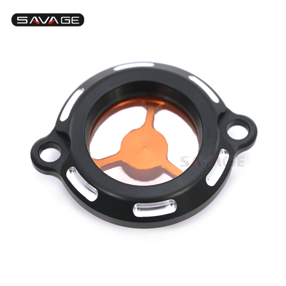 Engine Oil Filter Cap For KTM RC 125 200 250 DUKE 2012-2020 13 14 15 16 17 18 19 Motorcycle Accessories CNC Clear Cover image