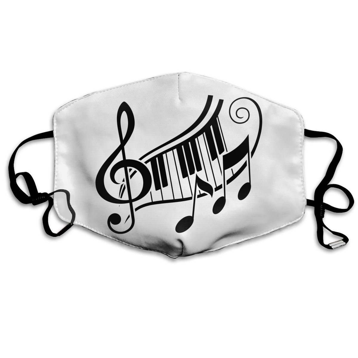 2020 Cartoon Music Notes Pattern Polyester Mask Party Respirator Keep Warm Cute Mask Camouflage Anti Dust Mouth Muffle Respirato